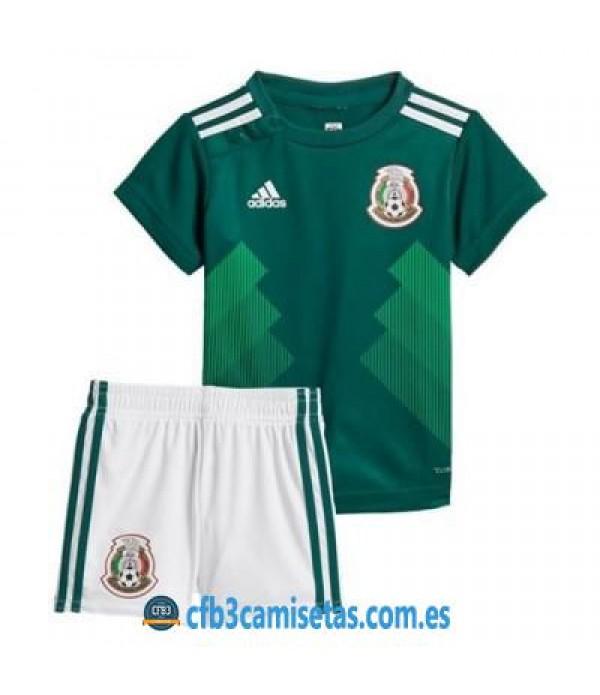 CFB3-Camisetas México 1ª equipacion Mundial 2018 NIÑOS