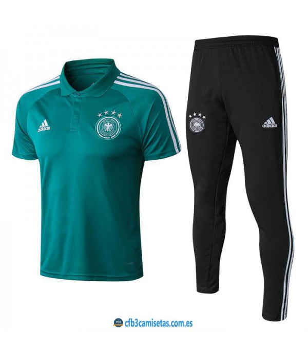 CFB3-Camisetas Polo + Pantalones Alemania 2018