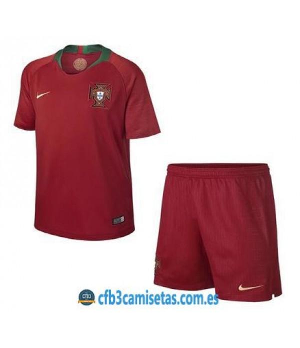 CFB3-Camisetas Portugal 1ª equipacion Mundial 2018 NIÑOS