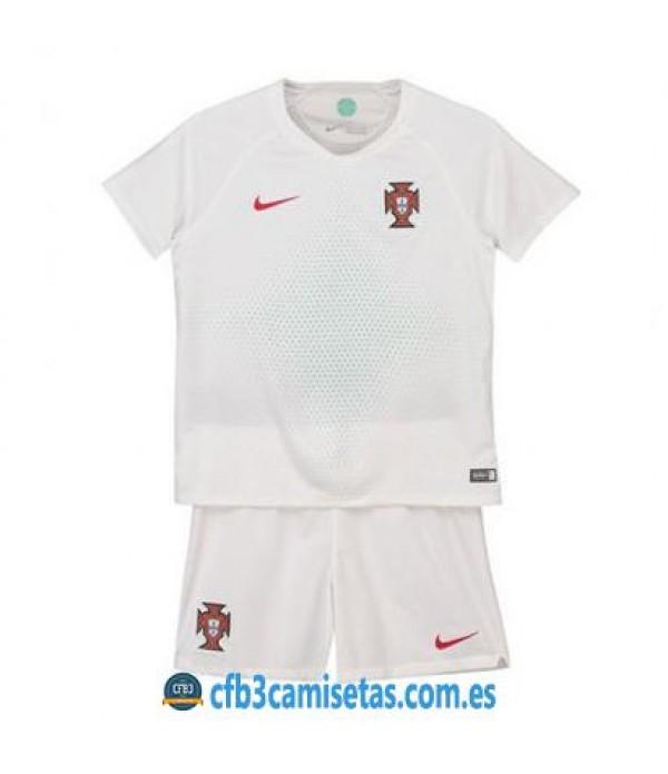 CFB3-Camisetas Portugal 2ª equipacion Mundial 2018 NIÑOS