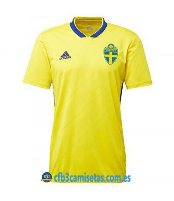 CFB3-Camisetas Suecia 1ª Equipación 2018