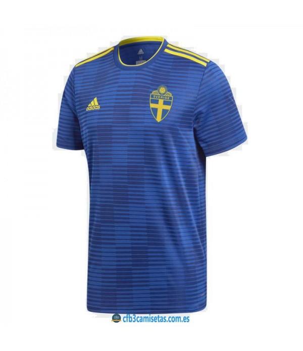 CFB3-Camisetas Suecia 2ª Equipación 2018