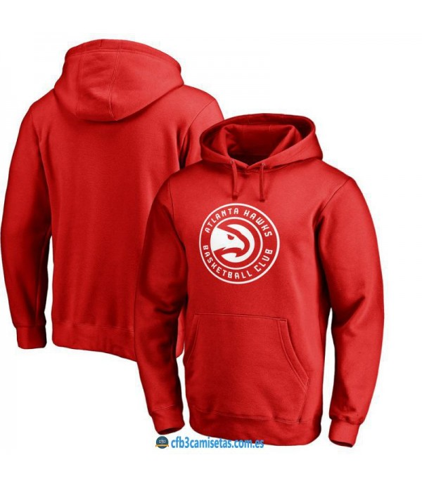 CFB3-Camisetas Sudadera Atlanta Hawks 2019 Roja