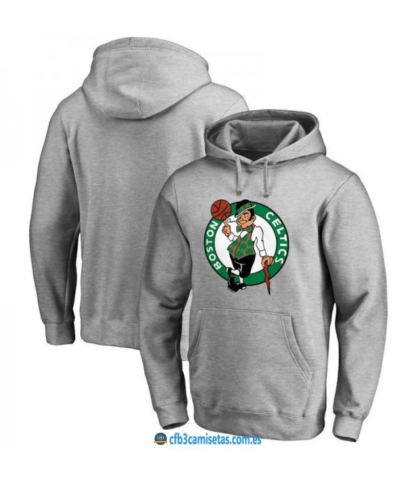 CFB3-Camisetas Sudadera Boston Celtics 2019 Gris