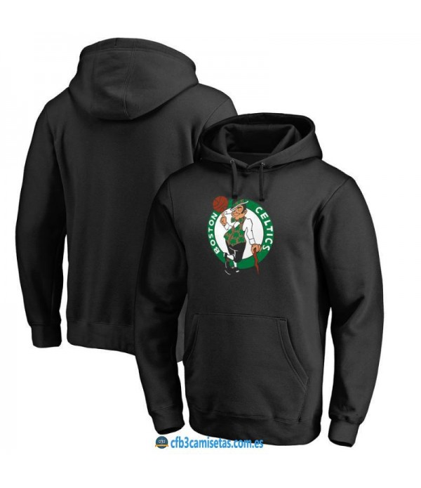 CFB3-Camisetas Sudadera Boston Celtics 2019 Negra
