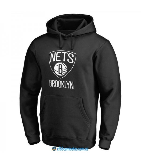 CFB3-Camisetas Sudadera Brooklyn Nets 2019 Negra