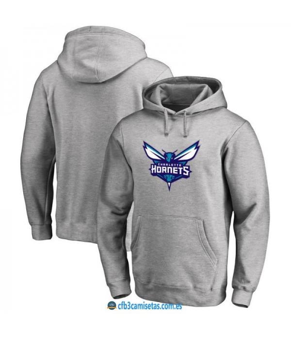 CFB3-Camisetas Sudadera Charlotte Hornets 2019 Gris