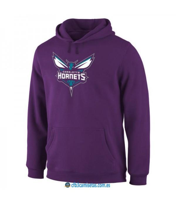 CFB3-Camisetas Sudadera Charlotte Hornets 2019 Morada