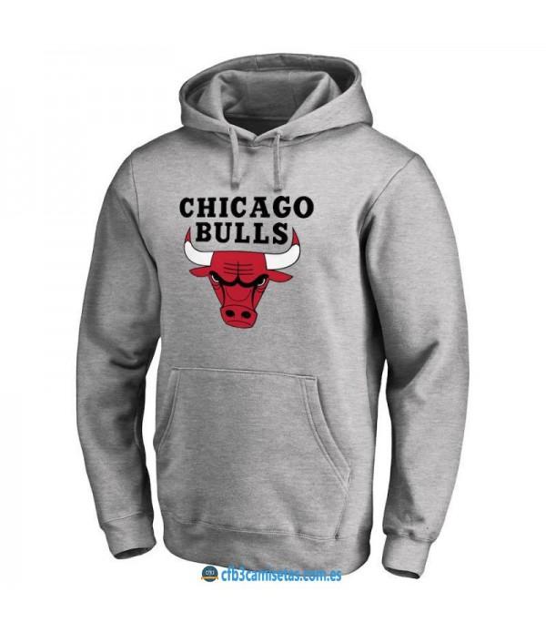 CFB3-Camisetas Sudadera Chicago Bulls 2019 Gris