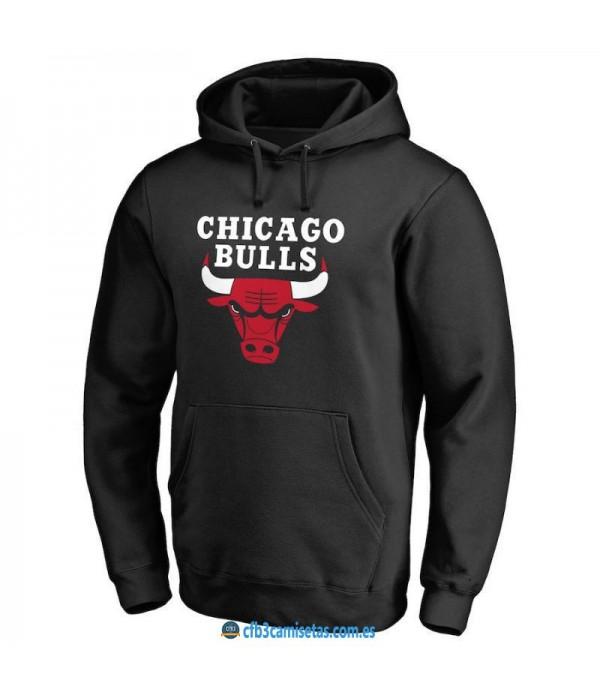 CFB3-Camisetas Sudadera Chicago Bulls 2019 Negra