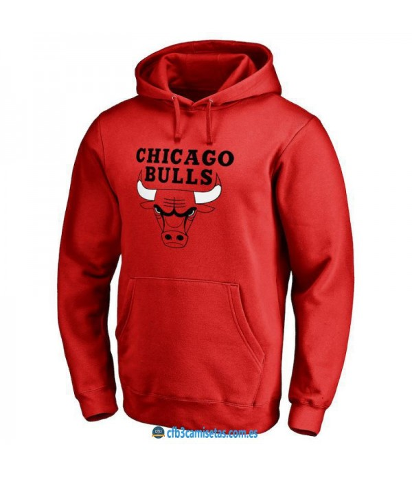 CFB3-Camisetas Sudadera Chicago Bulls 2019 Roja