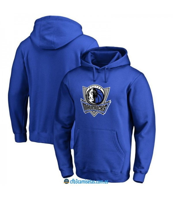 CFB3-Camisetas Sudadera Dallas Mavericks 2019 Azul