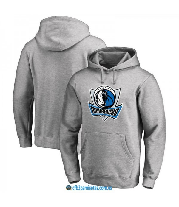 CFB3-Camisetas Sudadera Dallas Mavericks 2019 Gris