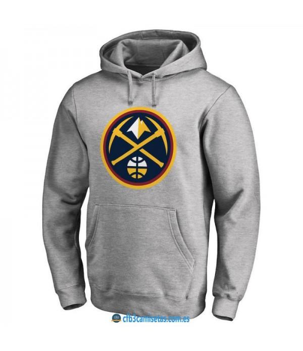 CFB3-Camisetas Sudadera Denver Nuggets 2019 Gris