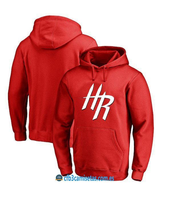 CFB3-Camisetas Sudadera Houston Rockets 2019 Roja