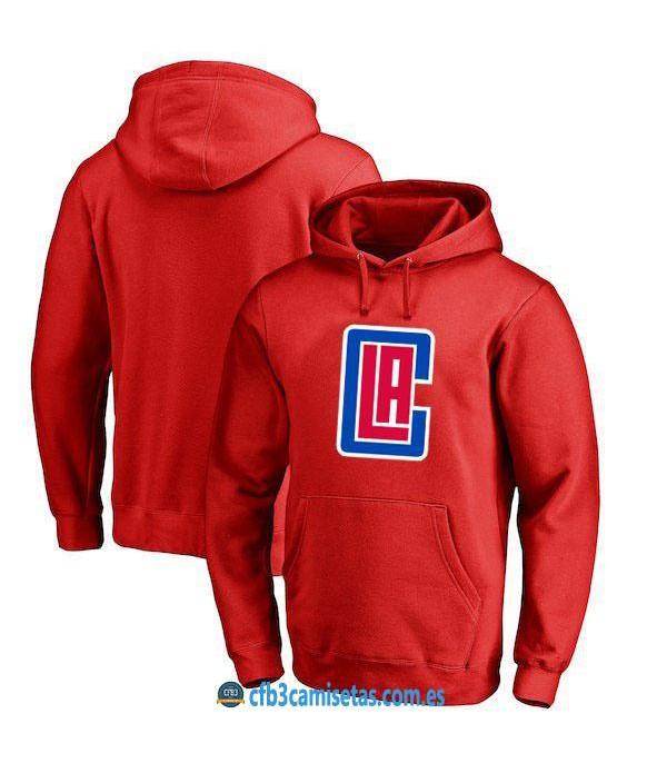 CFB3-Camisetas Sudadera LA Clippers 2019 Roja