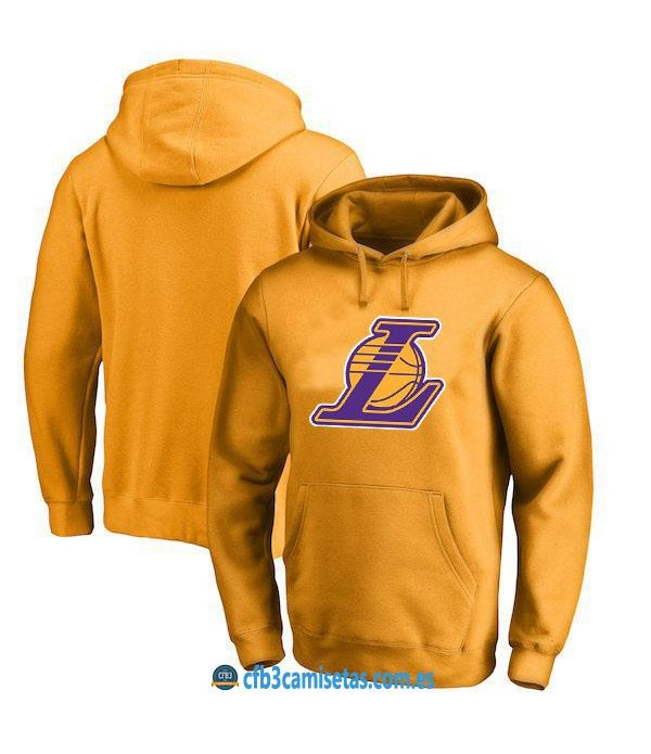 CFB3-Camisetas Sudadera Los Angeles Lakers 2019 Amarilla