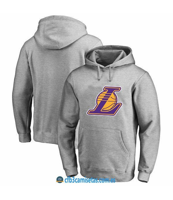 CFB3-Camisetas Sudadera Los Angeles Lakers 2019 Gris