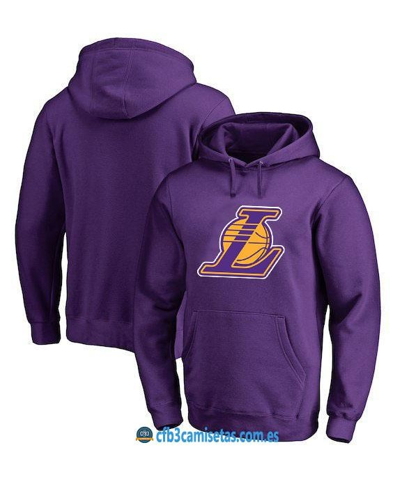 CFB3-Camisetas Sudadera Los Angeles Lakers 2019 Morada