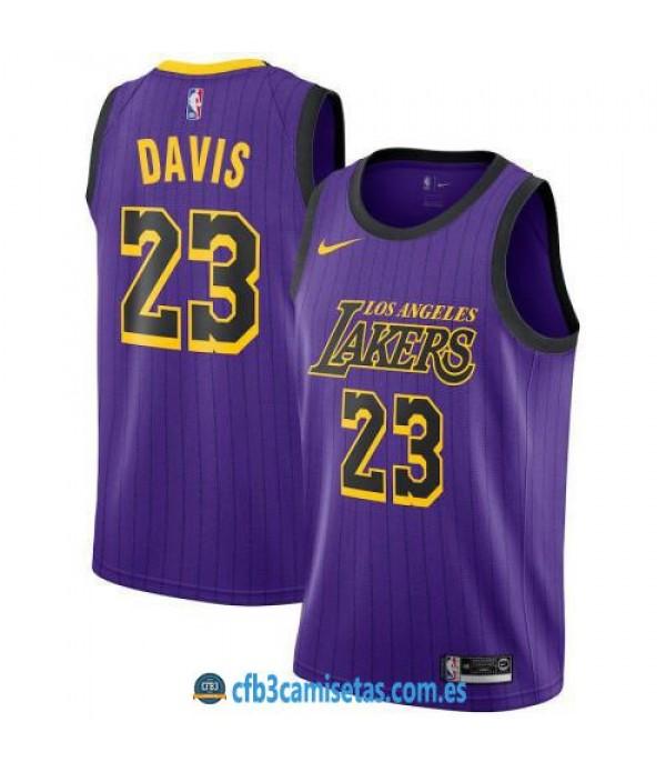 CFB3-Camisetas Anthony Davis Los Angeles Lakers 20...