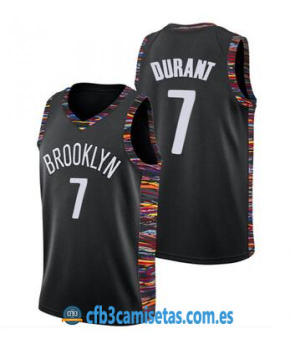 CFB3-Camisetas Kevin Durant Brooklyn Nets 2019 2020 City Edition