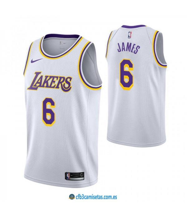 CFB3-Camisetas LeBron James 6 Los Angeles Lakers A...