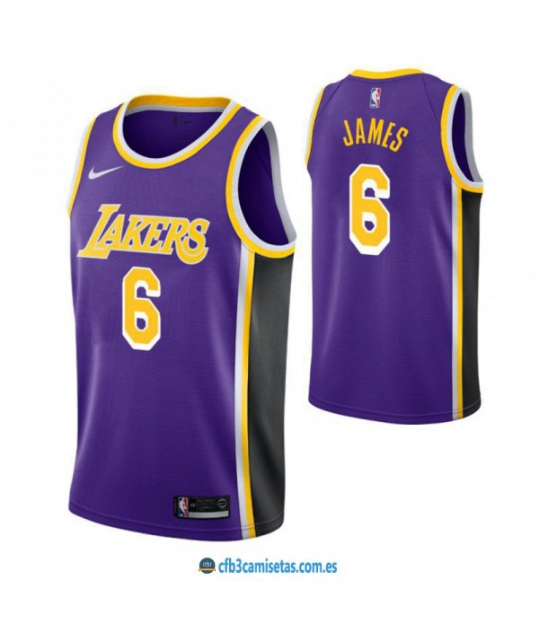 CFB3-Camisetas LeBron James 6 Los Angeles Lakers S...