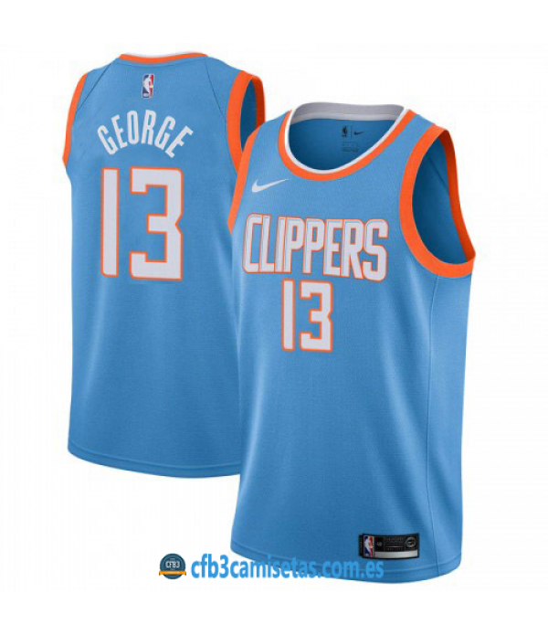 CFB3-Camisetas Paul George Los Angeles Clippers City Edition