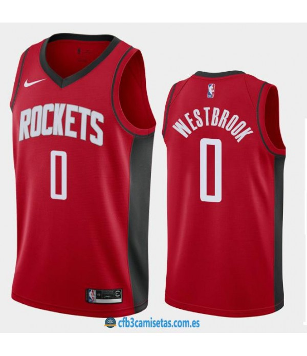 CFB3-Camisetas Russell Westbrook Houston Rockets 2019 2020 Icon
