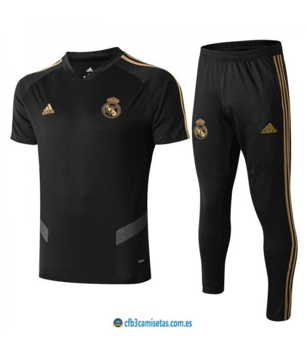 CFB3-Camisetas Camiseta + Pantalones Real Madrid 2019 2020 Negro