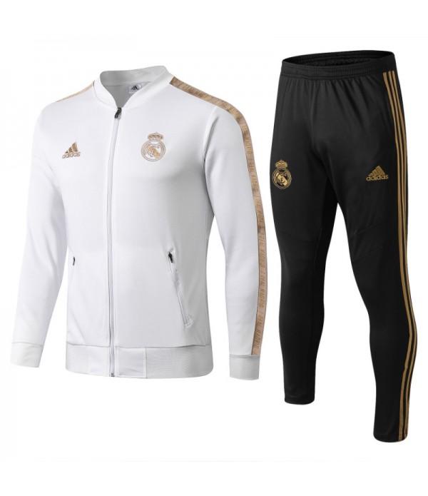 CFB3-Camisetas Chándal Real Madrid 2019 2020 Blan...
