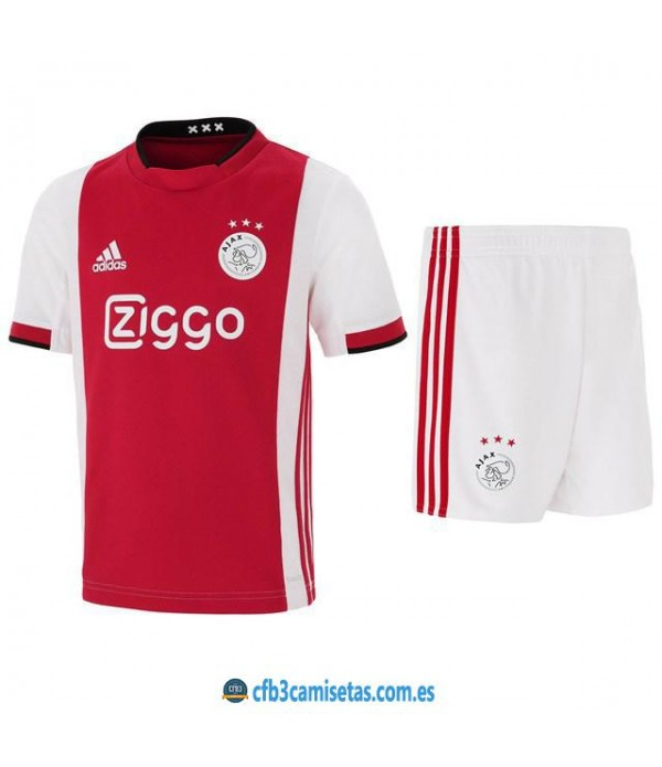 CFB3-Camisetas Ajax Amsterdam 1a Equipación 2019 2020 Kit Junior