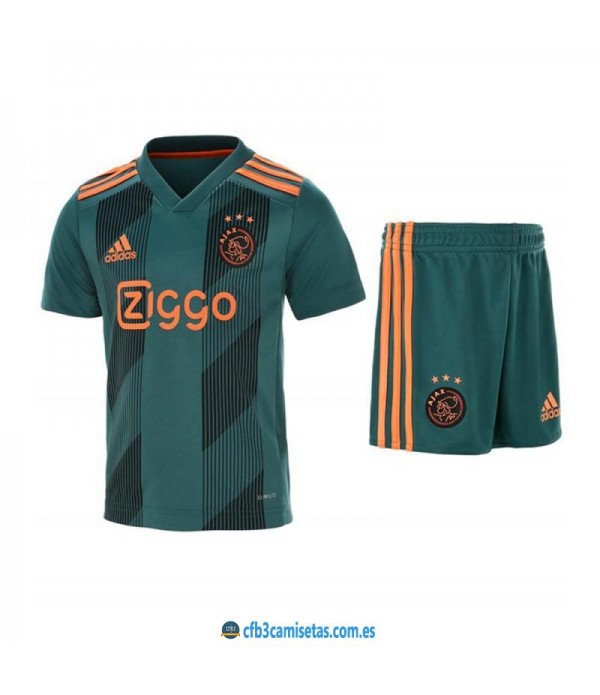 CFB3-Camisetas Ajax Amsterdam 2a Equipación 2019 2020 Kit Junior