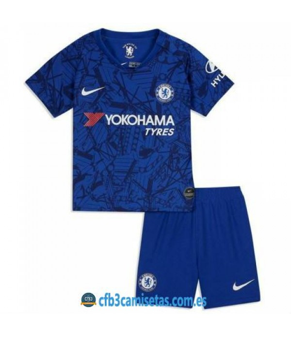 CFB3-Camisetas Chelsea 1a Equipación 2019 2020 Kit Junior