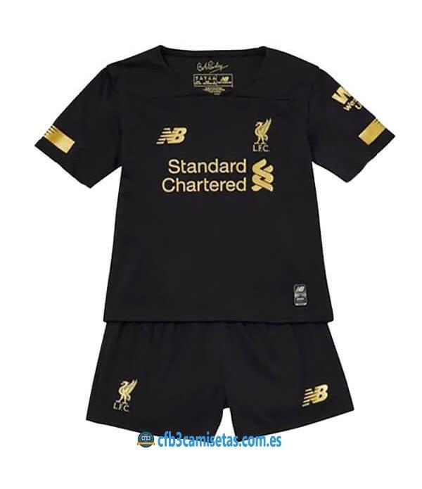 CFB3-Camisetas Liverpool 1a Equipación Portero 2019 2020 Kit Junior