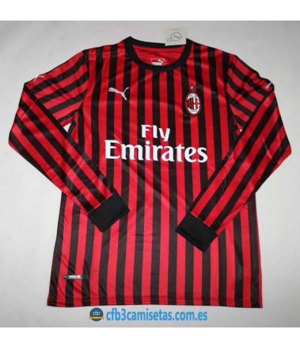 CFB3-Camisetas AC Milan 1a Equipación 2019 2020 ML