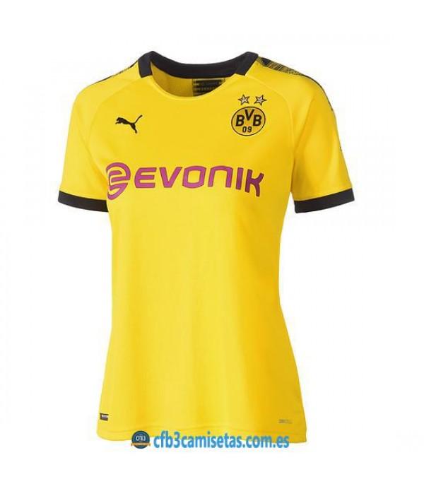 CFB3-Camisetas Borussia Dortmund 1a Equipación 2019 2020 MUJER