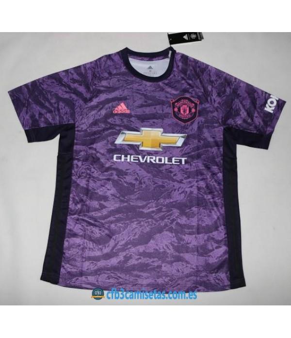 CFB3-Camisetas Manchester United 1a Equipación Portero 2019 2020