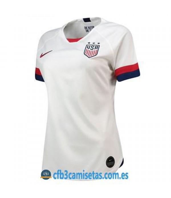 CFB3-Camisetas EEUU 1a Equipación 2019 MUJER