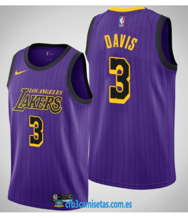 CFB3-Camisetas Anthony Davis Los Angeles Lakers 20...