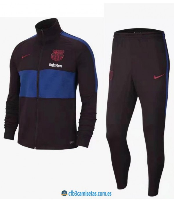 CFB3-Camisetas Chándal FC Barcelona 2019 2020 Negro