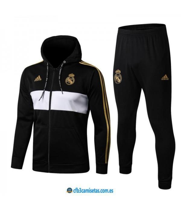 CFB3-Camisetas Chándal Real Madrid 2019 2020 Black