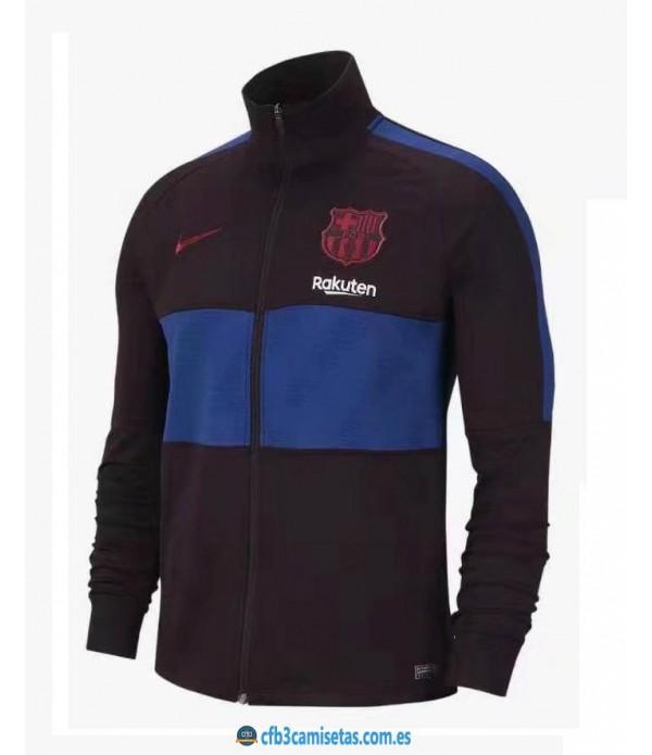 CFB3-Camisetas Chaqueta FC Barcelona 2019 2020 Negra