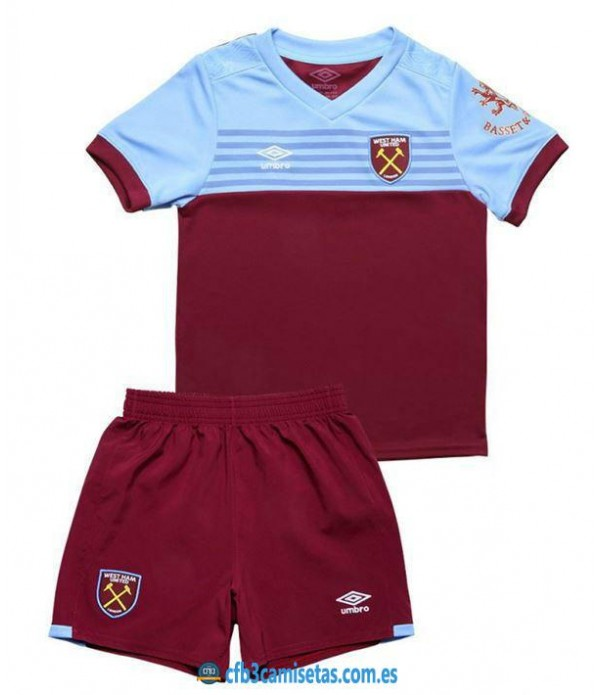 CFB3-Camisetas West Ham United 1a Equipación 2019 2020 Kit Junior