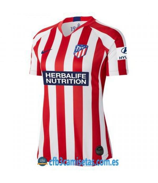 CFB3-Camisetas Atlético Madrid 1a Equipación 2019 2020 MUJER