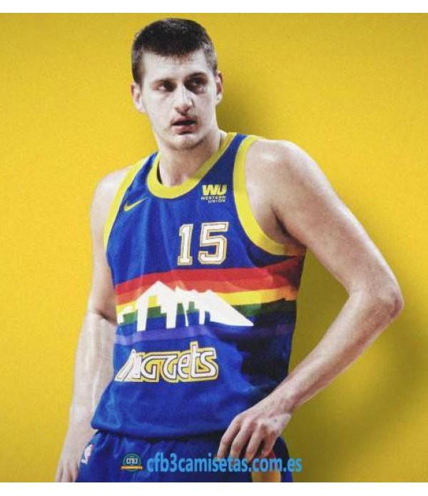 CFB3-Camisetas Nikola Jokic Denver Nuggets Retro