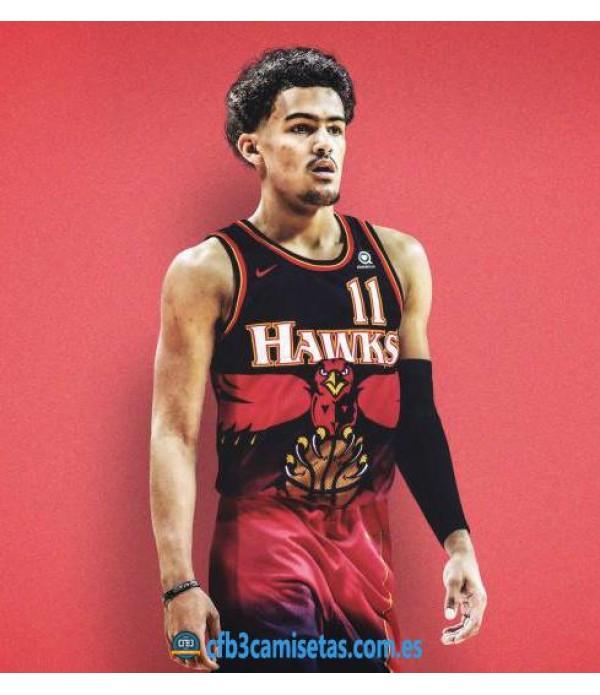 CFB3-Camisetas Trae Young Atlanta Hawks Retro