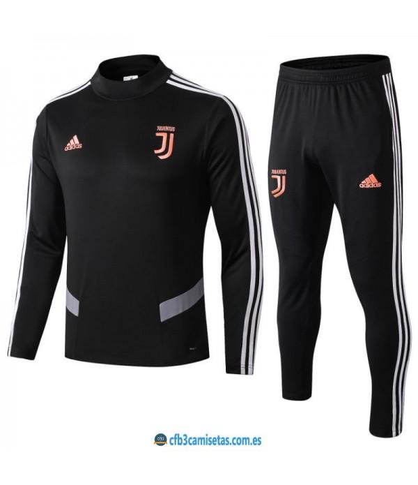 CFB3-Camisetas Chándal Juventus 2019 2020 Negro JUNIOR