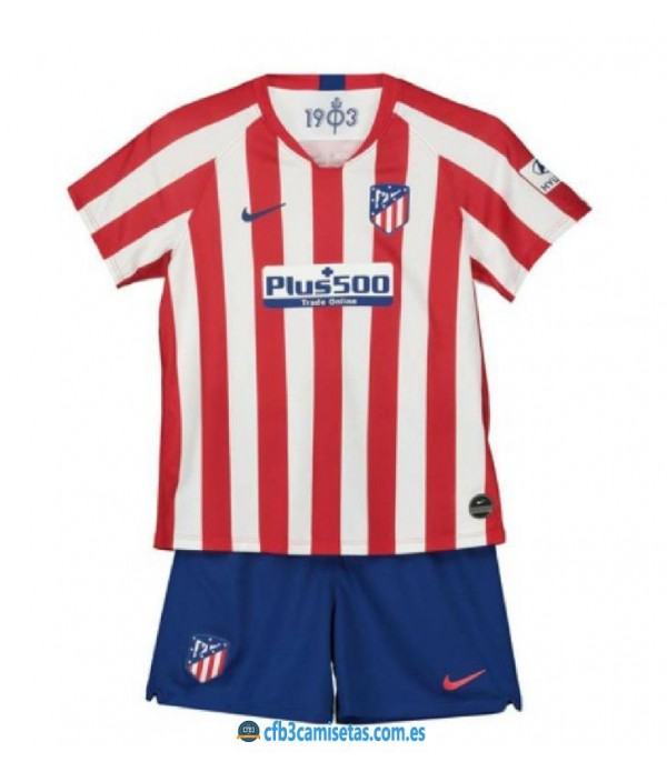 CFB3-Camisetas Atlético Madrid 1a Equipación 2019 2020 Kit Junior