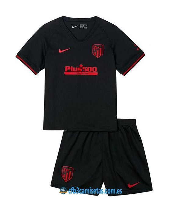 CFB3-Camisetas Atlético Madrid 2a Equipación 2019 2020 Kit Junior